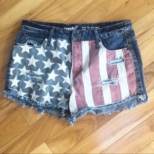Mossimo | American Flag Denim Shorts